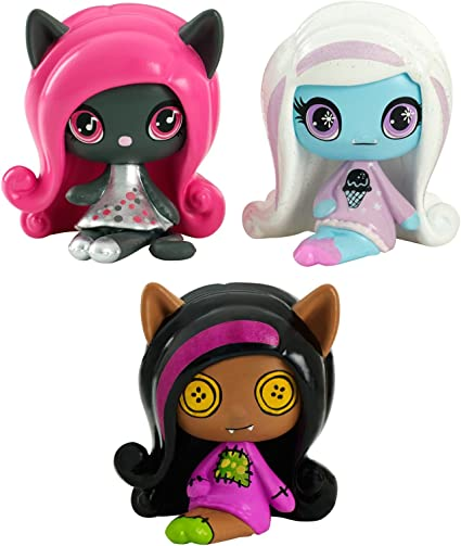 Monster High Minis Rag Doll Ghouls Clawdeen Wolf, a sparkling Candy Ghouls Abbey Bominable and an Original Ghouls Catty Noir Figures, 3 Pack: Amazon.es: Juguetes y juegos