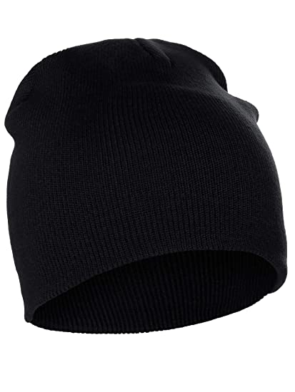 14b6cc73967 Classic Pain Cuffless Beanie Winter Knit Hat Skully Cap