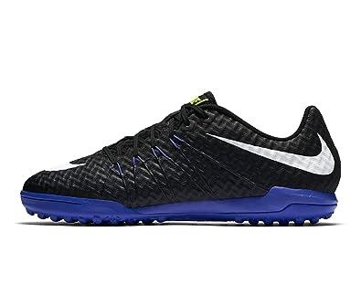 Nike Mens HyperVenomX Finale TF Turf Soccer Shoes Black ParamountBlue