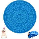 Helpcook Dog Lick Pad,Dog Bathing Distraction Device,Slow Treat Dispensing Mat Peanut Butter Mat Suctions to Wall for…