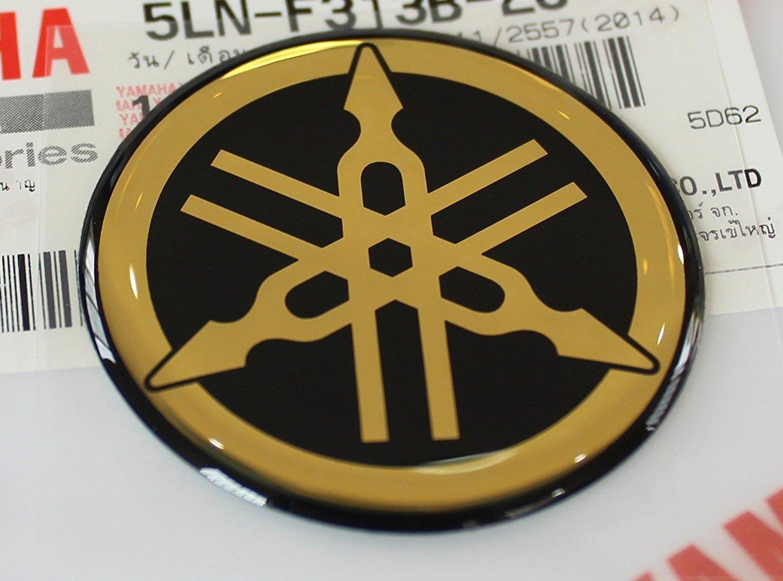 Yamaha tuning emblem sticker logo gold chrome more size to select body gel resin self adhesive moto jet ski atv snowmobile 18mm