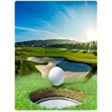 "Blankets Sofa Bed Throw Lightweight Cozy Plush Golf Course Beautiful Sky Hole Bunker 60""x80"""