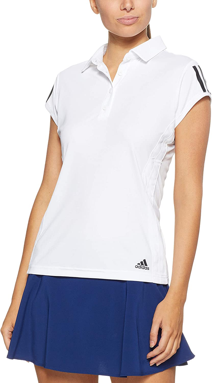 adidas Club 3 Stripes Manga Corta Polo de Camiseta: Amazon.es ...