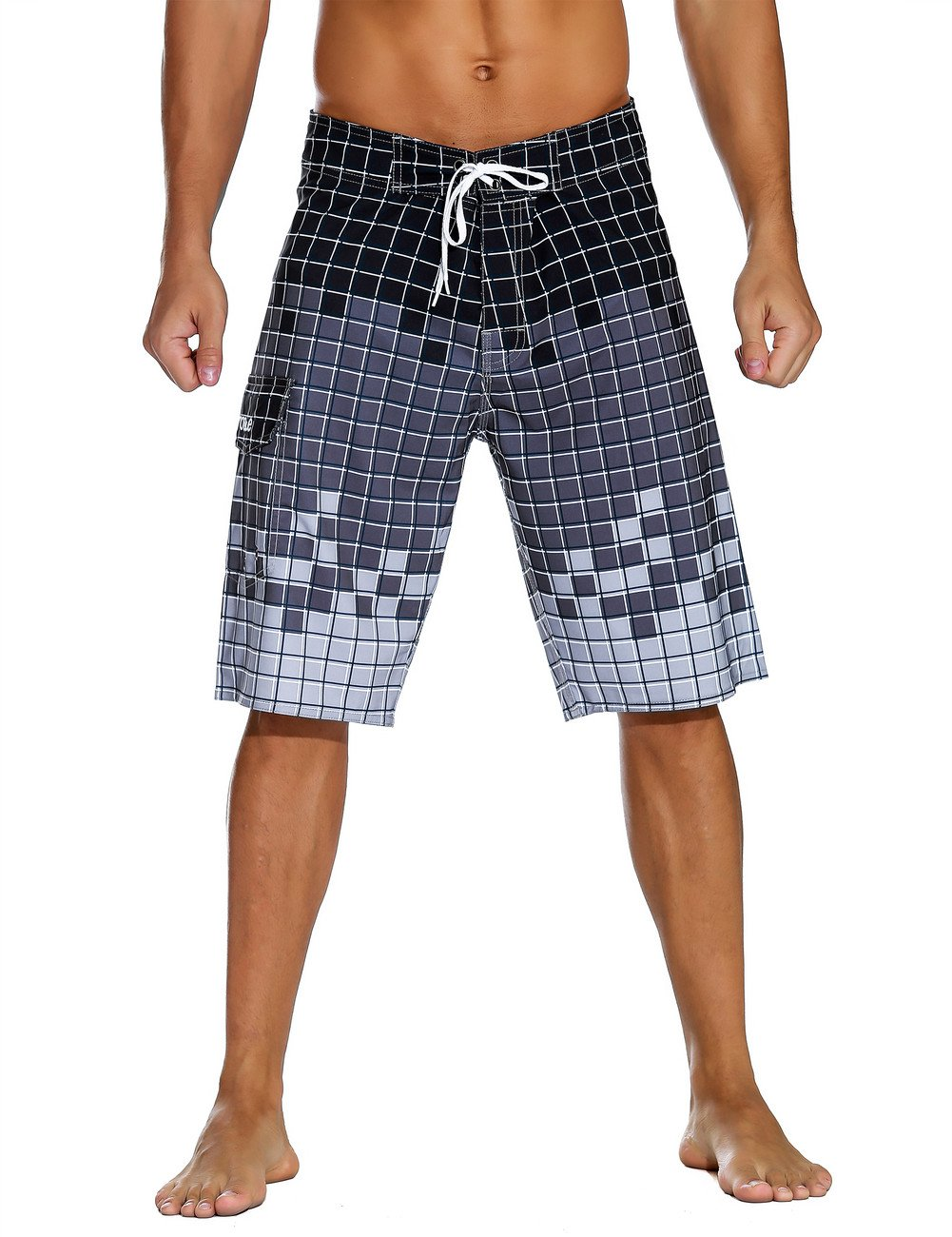 Nonwe Men's Sportwear Quick Dry Board Shorts with Lining JF16167