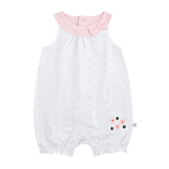 6177fa1ebc81 Amazon.com: Just Born Baby Girls' Madeline Romper, Floral Pink, New ...