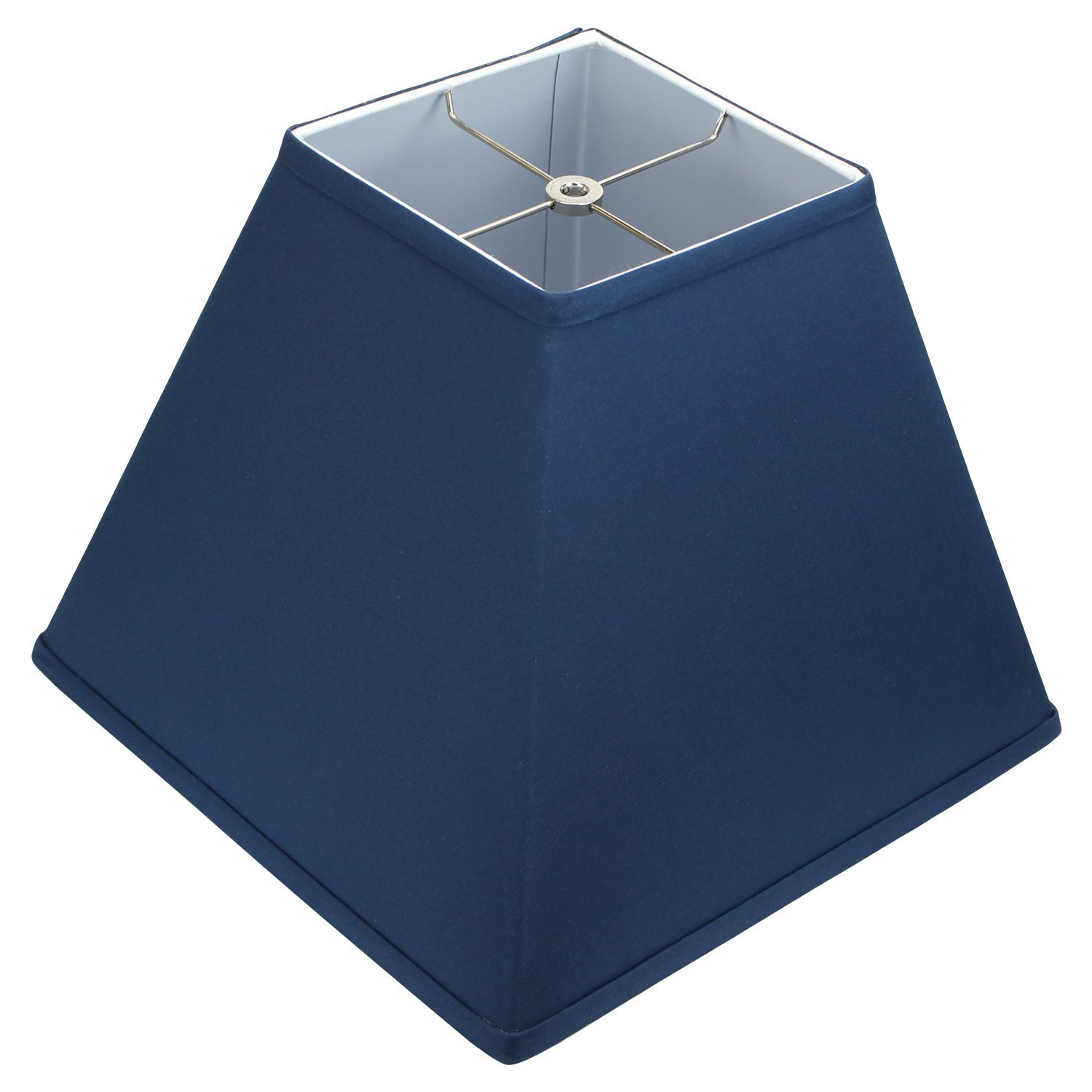 FenchelShades.com 6'' Top Dimension x 16'' Bottom Dimension 12'' Slant Height Lampshade USA Made (Navy Blue)