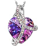 """SIVERY Valentines Day Gift """"Love Heart"""" Women Jewelry Necklace with Swarovski Crystals, Gifts for Mom"""