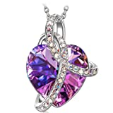 "Amazon Price History for:SIVERY ""Love Heart"" Fashion Jewelry Necklace Made with Swarovski Crystals, Jewelry for Women Valentine Day Gifts for Girlfriend"