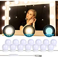 Yideng Vanity Spiegellichten, USB Hollywood Spiegellichten Stick-on Make-up Licht DIY Vullicht voor Kaptafel Badkamer, 3…