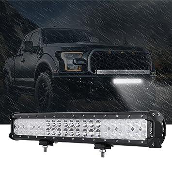 Auxbeam 20 Inch LED Light Bar 126W Light Bar with 42pcs 3W Led Off Road Driving Lights Spot Flood Combo Beam for Jeep Driving Off Road ATV SUV UTV