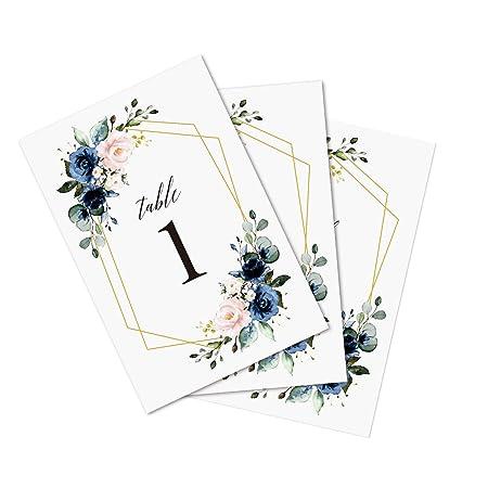 Doris Home - Números de mesa de boda, números 1 a 25 y números de ...