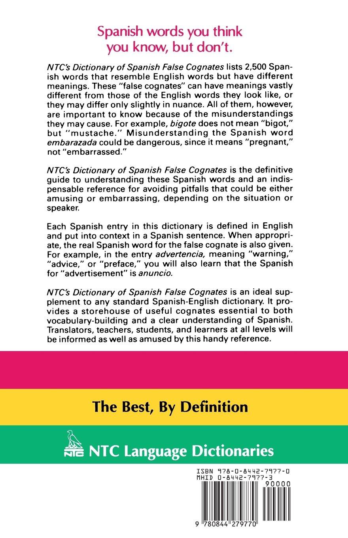NTC's Dictionary of Spanish False Cognates: Amazon.co.uk: Marcial Prado:  9780844279770: Books