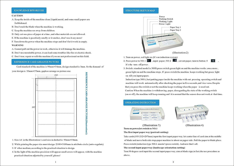 220V Business Card Cutter Automatic Binding machine Electric Cutter for 3.5''x2'' Card