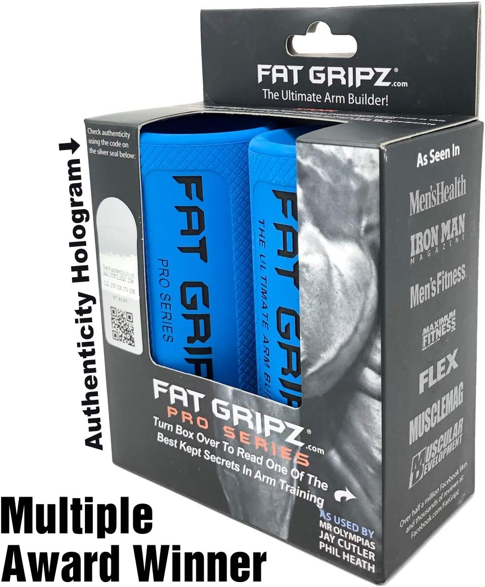 Fat Gripz – The Award-Winning Shortcut to Head-Turning Arms 2.25 Diameter, Original