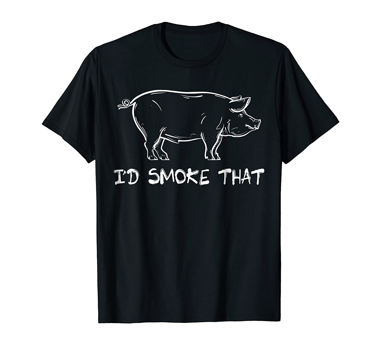 Mens I'd Smoke That Barbeque Smoker Chef T-Shirt-Newstyleth