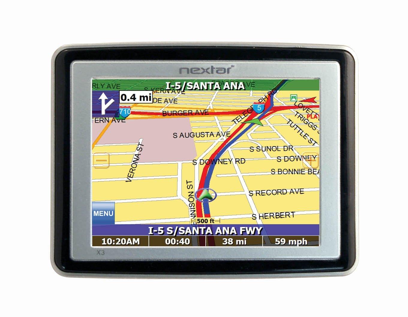 Amazon Com Nextar X Inch Portable Gps Navigator Cell Phones
