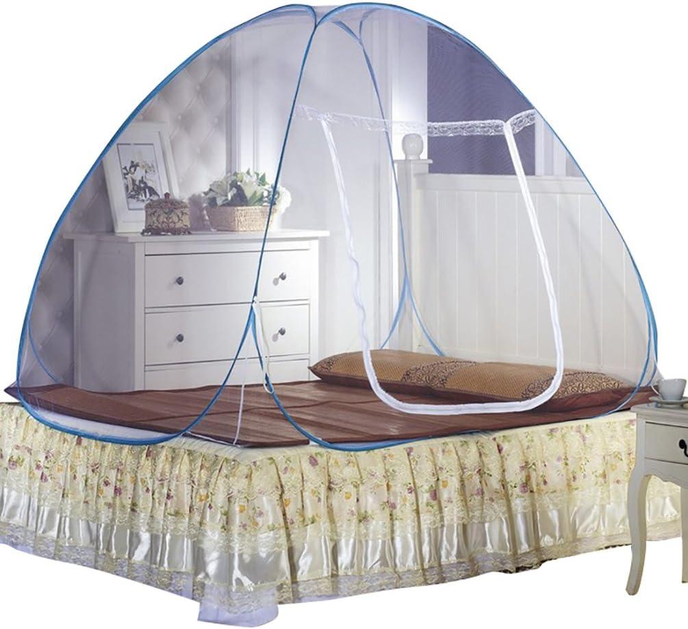 2 1.45m YOUJIA U-Forme Fermeture /éclair Nets Yurt Tente Moustique Moustiquaire Baldaquin Moustiquaire Tente de lit Bleu 1.2