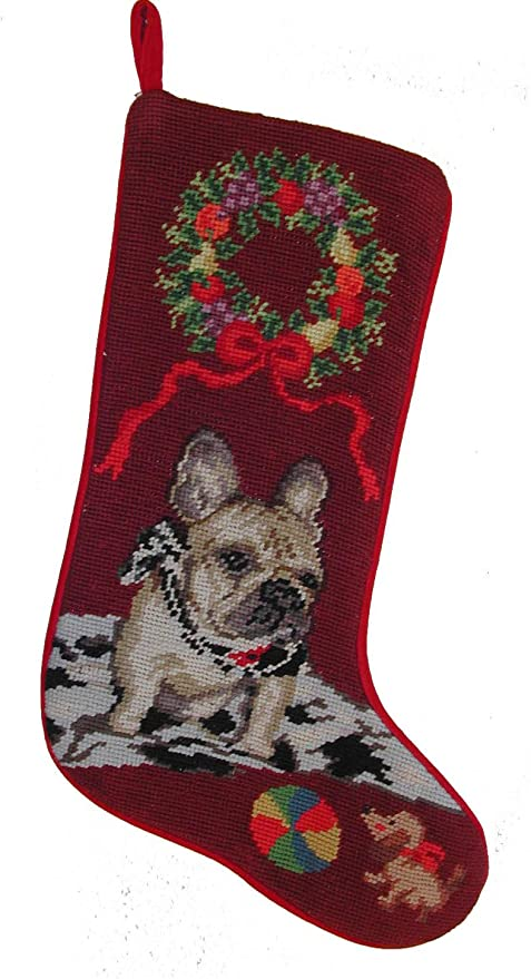 Amazon french bulldog dog needlepoint christmas stocking home french bulldog dog needlepoint christmas stocking solutioingenieria Images