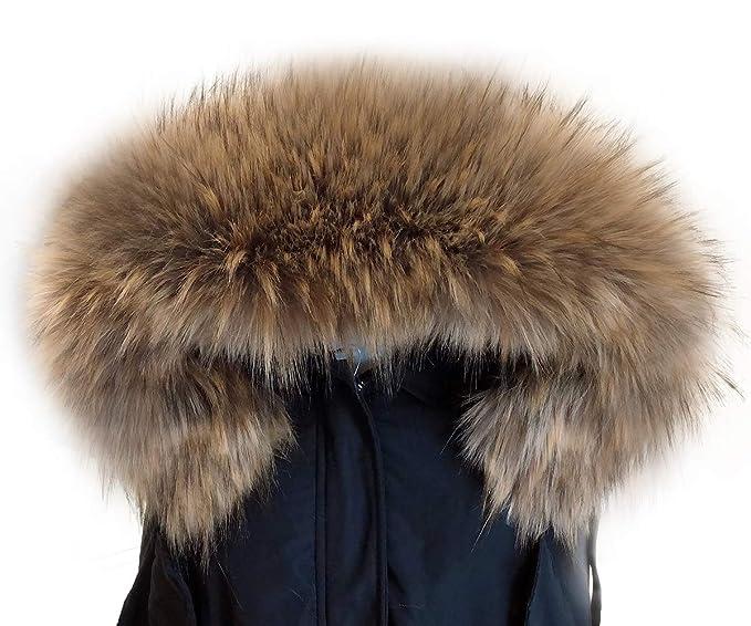 MAGIMODAC Elegante Cuello Bufanda Bufandas de Piel de Zorro Sintética para Chaqueta Abrigo Capucha Mujer (