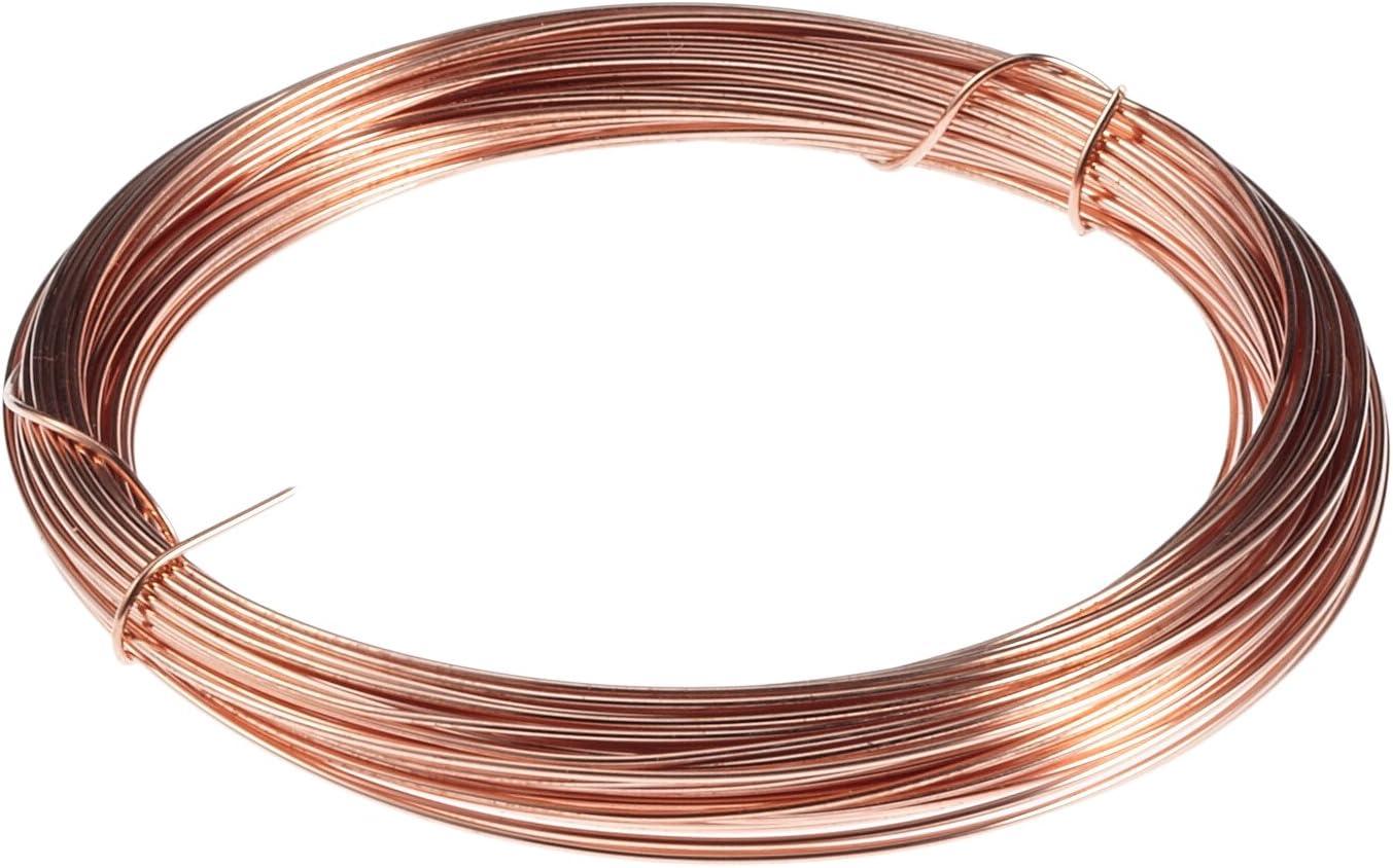 Dorado Calibre 22 BENECREAT 10m 0.6mm Alambre Trenzado de Cobre Cable Met/álico Accesorios de Manualidad para Dise/ño de Bisuter/ía