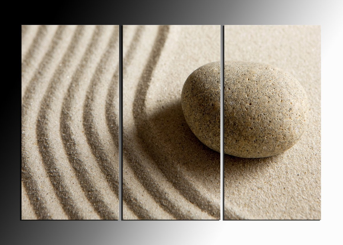 3 Panels HD Canvas Print Painting Artwork Wall Art Picture Gift Desert stones for Living Room Framed ready to hang HappyHouseArt