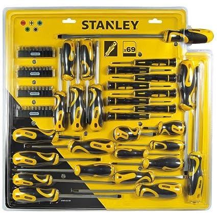 STANLEY STHT0-62139 - Set de 69 piezas, destornilladores y puntas de destornillador