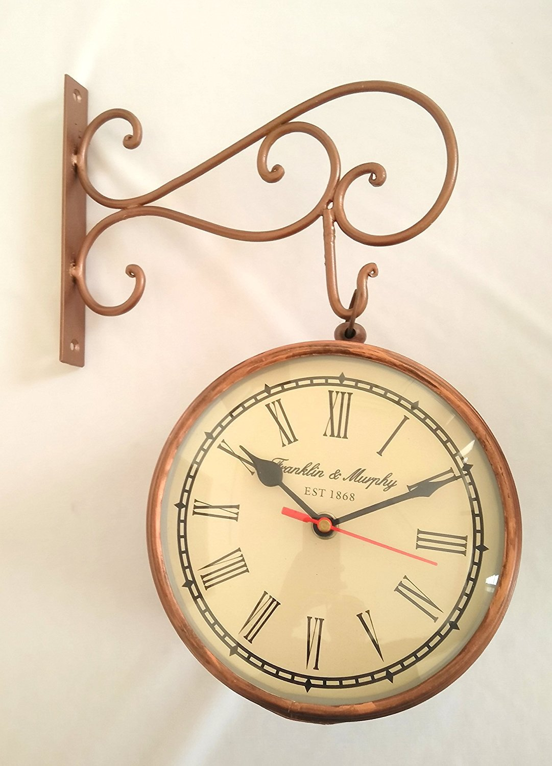 Amazon.com: Artshai 6 inch station clock made from iron with etching ...