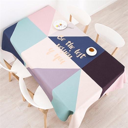 140 * 140 cm, color azul y beige rosa Patchwork Nordic estilo ...