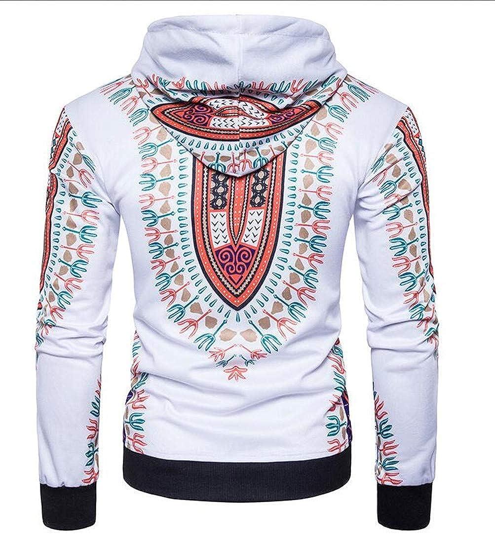 Joe Wenko Mens Vogue Long-Sleeve Pullover Dashiki Tribal Casual Hoodie Sweatshirts