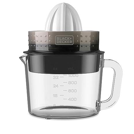 Black+Decker BXCJ30E Exprimidor, 30 W, 1 Liter, Vidrio, Blanco