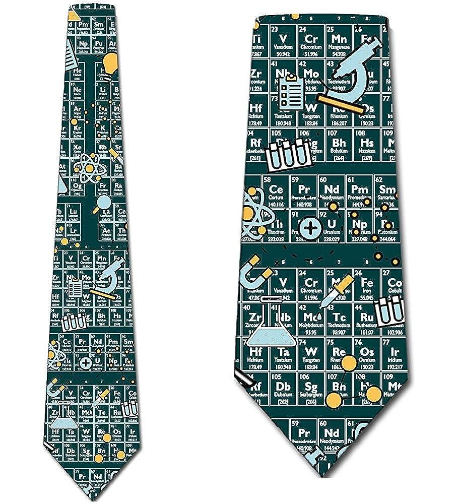 Anna-Shop Corbatas de química Icono de tabla periódica para hombre ...