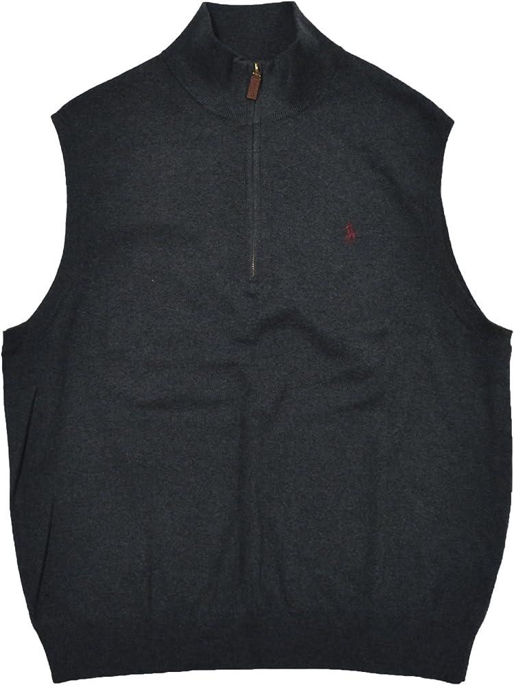 Polo Ralph Lauren para hombre 1/4 cremallera cuello Jersey chaleco ...