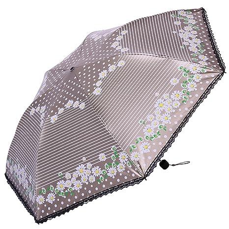 Viaje Paraguas plegable,Portátil Compacto de sombrillas,Protección contra el sol Paraguas de sol