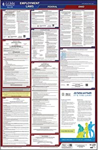 """2020 Ohio Labor Law Poster, All-in-One OSHA Compliant OH State & Federal Laminated Poster (26"""" x 40"""" English) - Includes FFCRA Poster - J. J. Keller & Associates"""