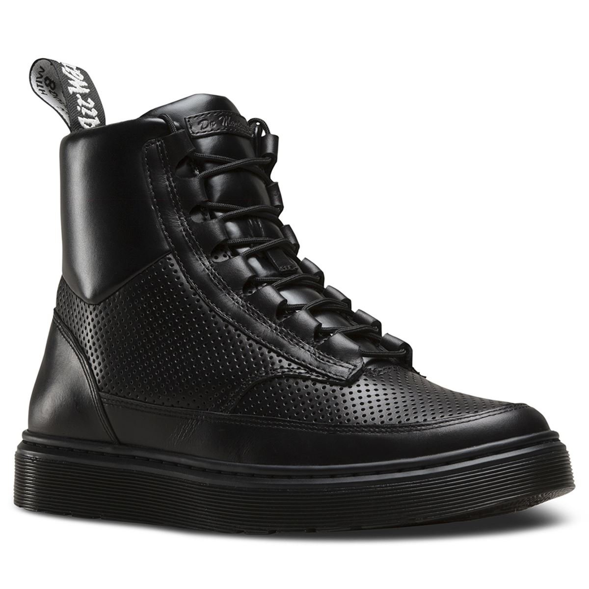 Dr. Martens Mens Kamar Combat Boot Black Size UK 8 (9 M US Men/10 M US Women)