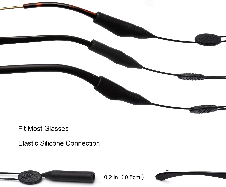 2 St/ück Anti-Rutsch Brillenhalter Gurt F/ür Damen Herren Kinder Einstellbar Sport Sonnenbrillen Kette Brille halterung