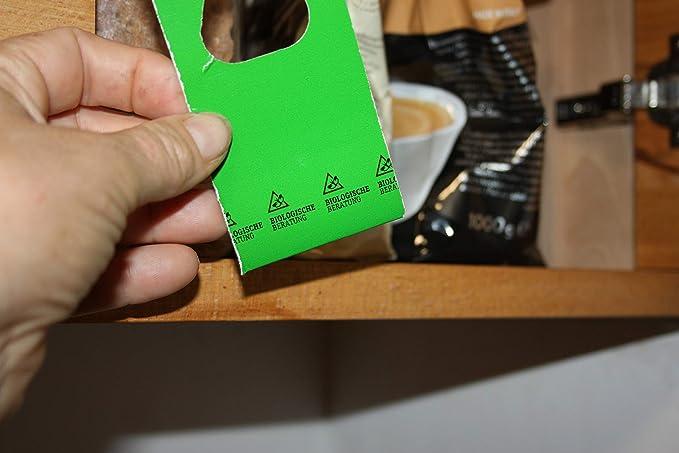 Lucha biol/ógica Natural contra polillas de deshidrataci/ón y Alimentos 3 x 2 Tarjetas Asesoramiento biol/ógico contra polillas XS