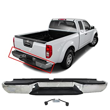 MBI AUTO   Steel Chrome, Complete Rear Bumper Assembly For 2005 2016 Nissan  Frontier
