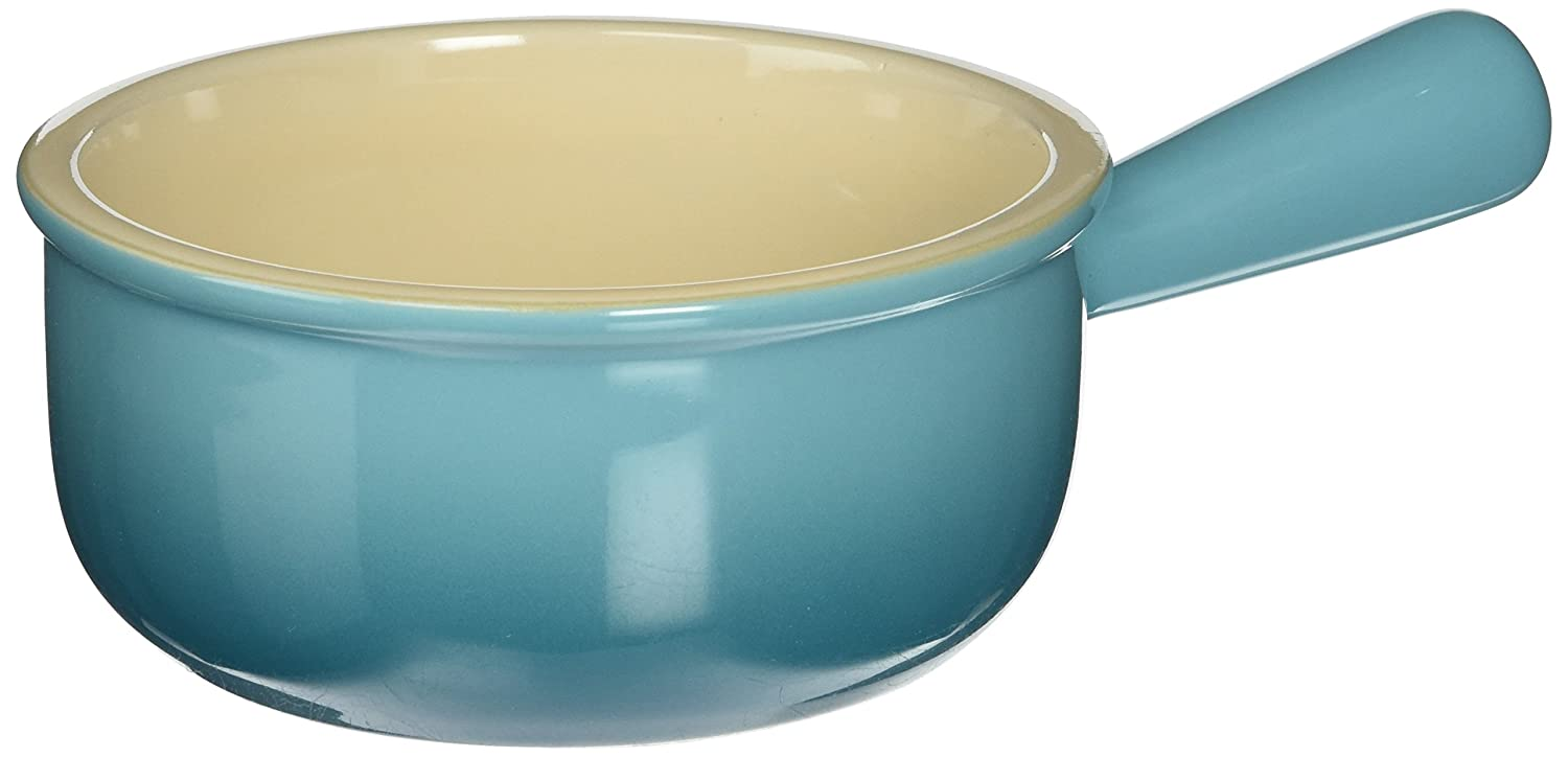 Le Creuset Stoneware 16-Ounce French Onion Soup Bowl, Caribbean