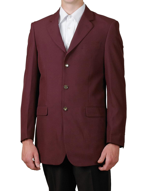 New Mens 3 Button Single Breasted Burgundy / Maroon Blazer ...
