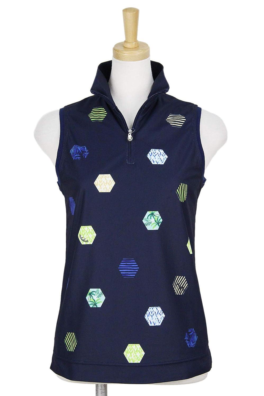 ポロシャツ レディース アダバット adabat 2019 春夏 ゴルフウェア 644-16545 M(38) ネイビー(093) B07QW7SQJM