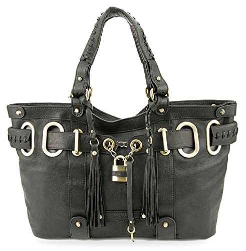 BOVARI Borsa donna Borsa a mano Model Shopper Bag Dimensioni(cm) 42x26x8 cm  - vera pelle - nero  Amazon.it  Scarpe e borse 4952a4ce206c