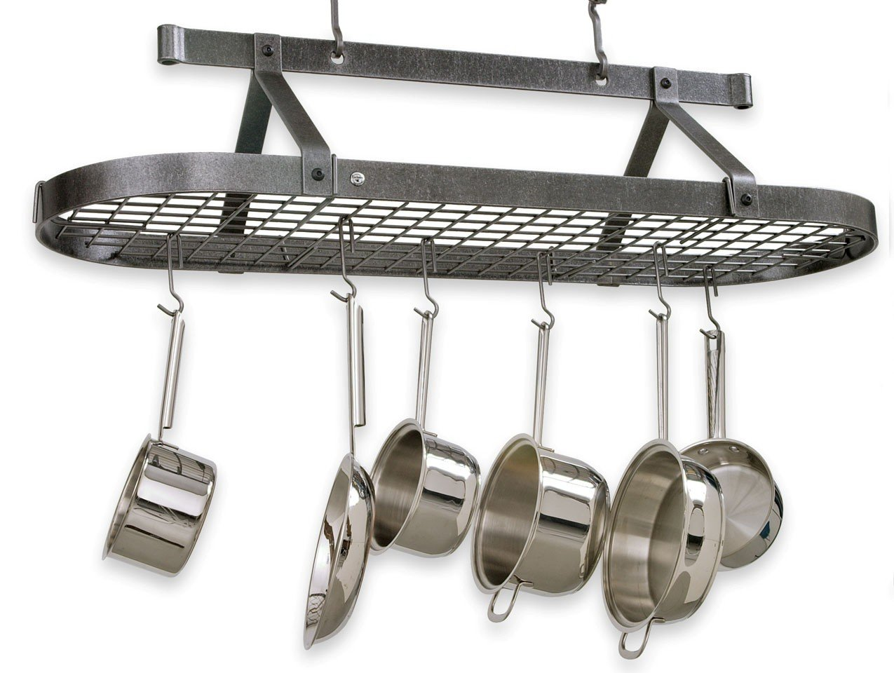 rack marvelous hangers and pin pans pots pot ceiling pan hooks kitchen hanging with traditional