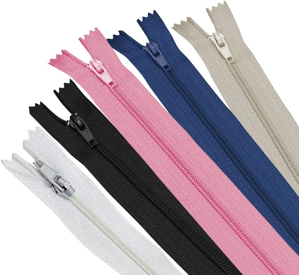 6~14Inch Nylon Coil Zippers Tailor Sewer Craft Crafter/'s /&FGDQRS) 50pcs