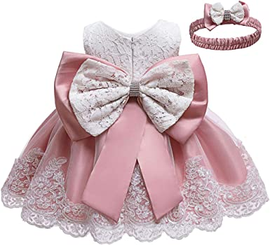 Girl Flower Dress for Kid Baby Baptism Christening Wedding Birthday Party Gown