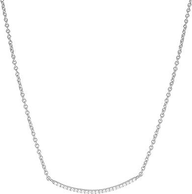Cubic Zirconia Bar Necklace
