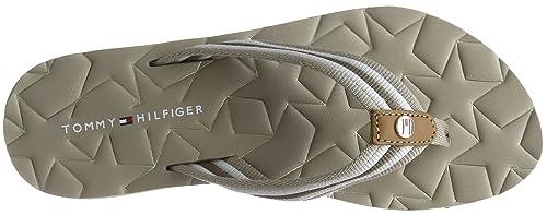 428ddcc0c63829 Tommy Hilfiger Women s Comfort Low Beach Sandal Flip Flops  Amazon ...