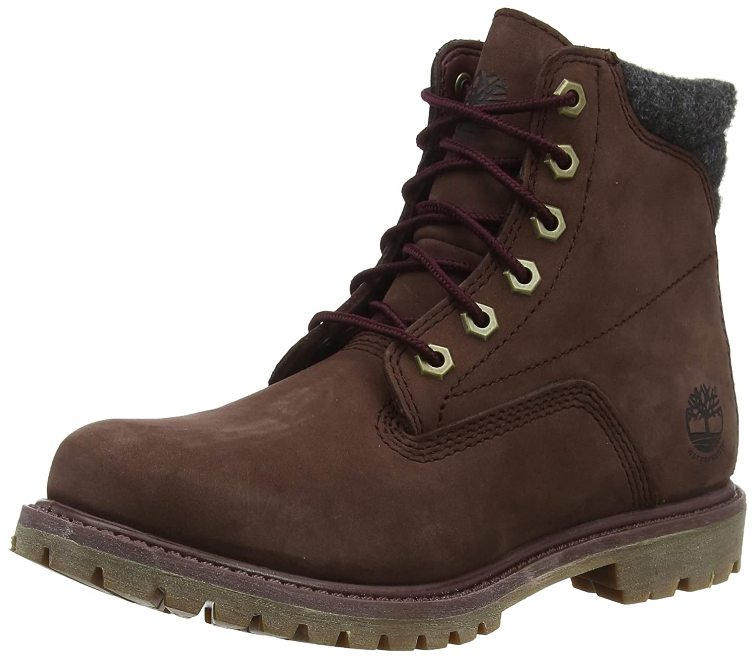 Timberland Women's Waterville 6 Inch Basic Waterproof Lace up Boots