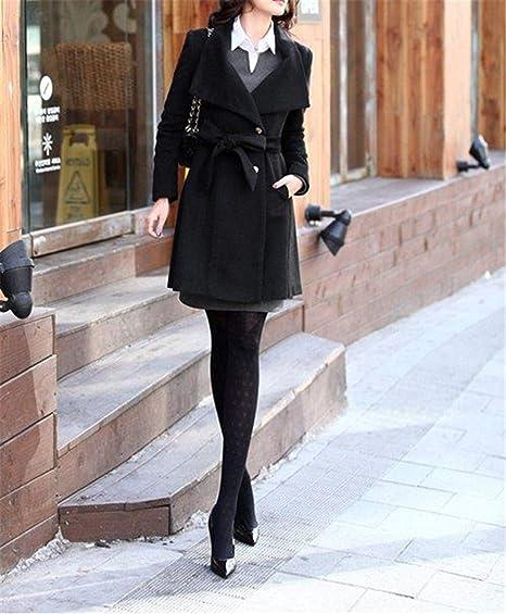 cb5c4473c Amazon.com  Korean Women s Cashmere Coat Female Autumn Long Slim ...