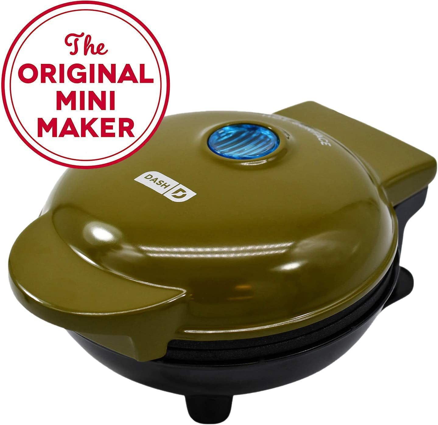 DASH UOW100GO Machine for Individual Hash browns Mini Maker-Waffle Paninis Olive Green